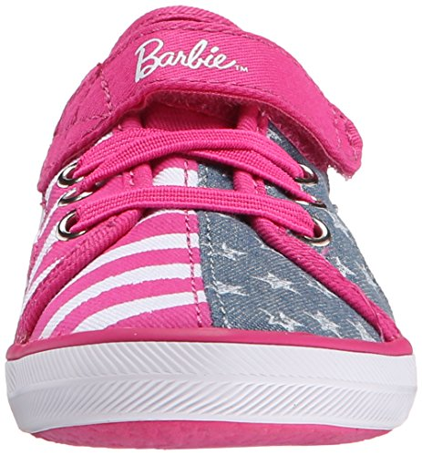 Keds KE Barbie AC Denim Stripe Mädchen Klett Sneakers Grey