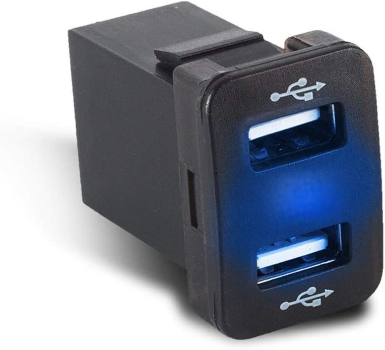 JIANGNANCHUN 4.2A Dual-USB voor compatibel met Toyota in-situ gemodificeerde autoladers autoladers sigarettenaansteker om de stroomvoorziening snel op te laden zwart zwart