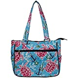 quilted fabric bags - Ngil Quilted Cotton Shoulder Bag (Turtle and Me Navy)