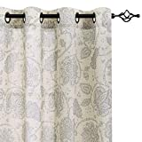 Paisley Scroll Printed Linen Curtains
