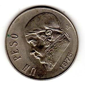 Amazon.com: Mexico Un Peso 1975 Copper Nickel Coin Estados