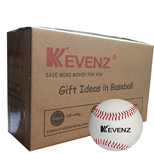 KEVENZ Competition Grade Baseballs,Advance Baseball (6-Pack) (Soft plastic core,6-Pack,Upgrade) (Grade Leather Baseball)
