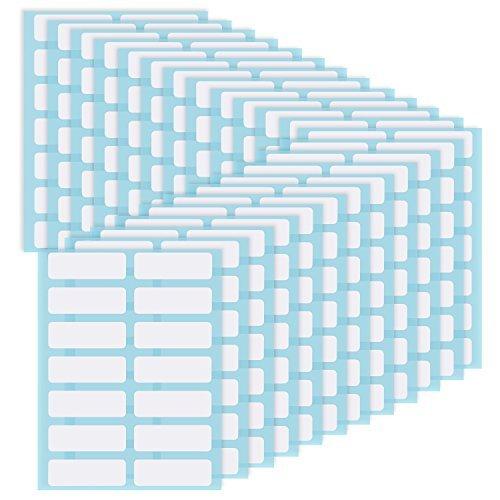 Willbond - Etiquetas adhesivas para archivar carpetas, etiquetas con nombre, etiquetas de frasco, color blanco, etiquetas...