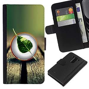 A-type (Enfriar Naturaleza Madera Hoja Árbol) Colorida Impresión Funda Cuero Monedero Caja Bolsa Cubierta Caja Piel Card Slots Para LG G3