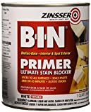 BIN, Zinsser Quart - White Pigmented Shellac Primer-Sealer & Stain Killer, White, 1 Quart