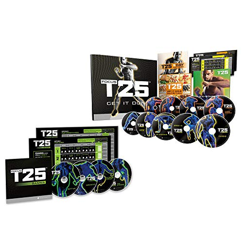 BQN YAM LLC Focus T25 Shaun T's DVD Workout Program Alpha + Beta Workout Exercise