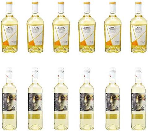 [ 12本 まとめ買い ワイン 飲み比べ ] 2018年 カサーレ ヴェッキオ ペコリーノ (ファルネーゼ) 750ml と 2018年 オノロ ベラ ルエダ (ヒル ファミリー エステーツ) 750ml ワインセット