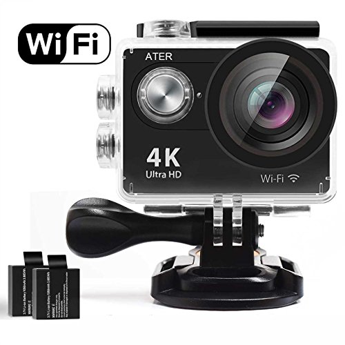 Action Camera, 4K WiFi Action Camera Ultra HD Waterproof DV Camcorder 12MP 2