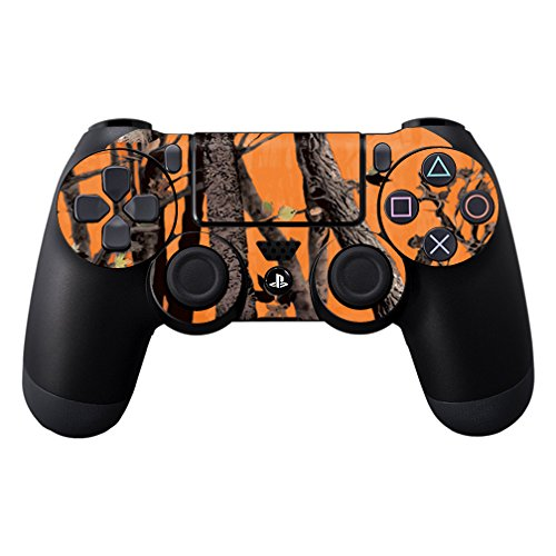 MightySkins Skin for Sony PS4 Controller - Orange Camo | Protective, Durable, and Unique Vinyl Decal wrap Cover | Easy to Apply, Remove, and Change Styles | Made in The USA