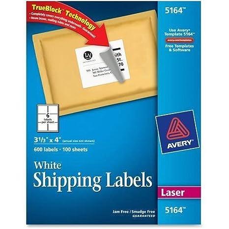 amazon com 5164 avery easy peel address label 3 33 width x 4