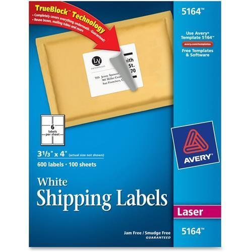 shipping label template 5164