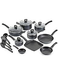 T-fal 18-Piece Gray Banquet Nonstick Cookware Set