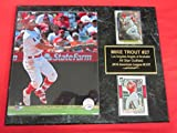 J & C Baseball Clubhouse Mike Trout Anaheim Angels 2 Card Collector Plaque w/8x10 2018 Photo!