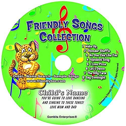 """Gombita Enterprises Children Name Personalized Music CD -- Friendly Songs Collection -- Music CD and """"New"""" Digital Content is HERE! - - Customize When Ordering (Standard Name CD)"""