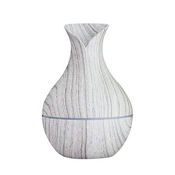 Mini Usb Aroma Diffuser Essential Oil 300ml Humidificador De Aire Grano Madera