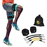 DAS Leben Kinetic Speed Agility Training Strength Leg Resistance Bands with a whole set - for Soccer Kick Boxing Thai Punch Karate Running Taekwondo Football Training