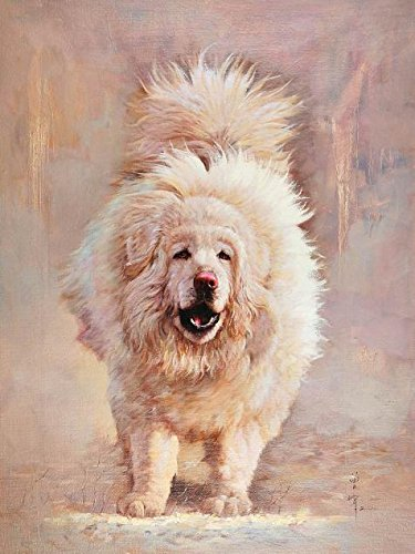 'a White Dog' Oil Painting, 20x27 Inch / 51x68 Cm ,printed On High Quality Polyster Canvas ,this Reproductions Art Decorative Canvas Prints Is Perfectly Suitalbe For Basement Decoration And Home Gallery Art And Gifts