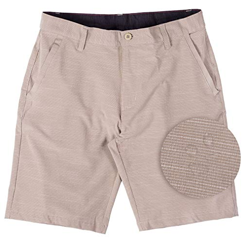 af1a329ecb Burnside Hybrid Stretch Shorts for Mens Lightweight Boardshorts Grey ...
