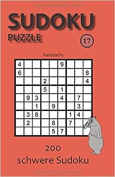 Sudoku Puzzle 17: 200 schwere Sudoku