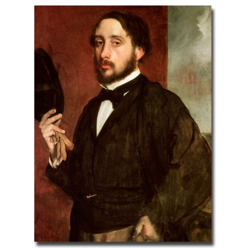 picture of Trademark Fine Art Self Portrait, 1862 by Edgar Degas Canvas Wall Art, 24 by 32-Inch