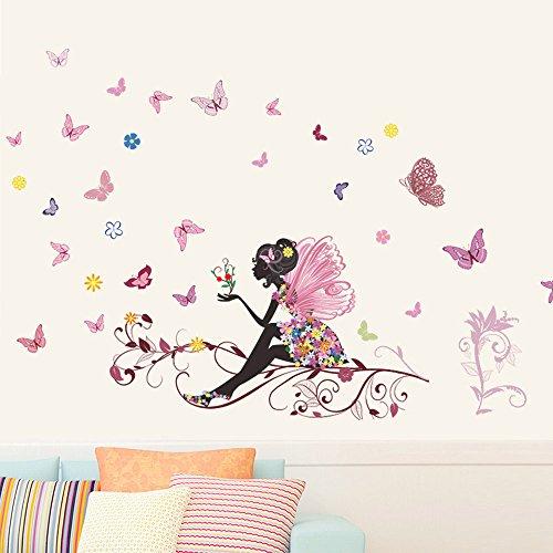 Websad_New Butterfly Flower Fairy Stickers Bedroom Living Room Walls from Websa_ Home & Garden