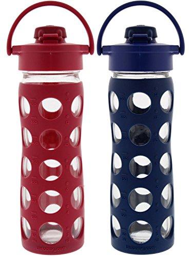 2-Pack Lifefactory 16-Ounce Flip Cap Beverage Bottles