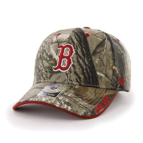 MLB Boston Red Sox Real Tree Frost Camouflage Adjustable Hat, One Size, Realtree Camo