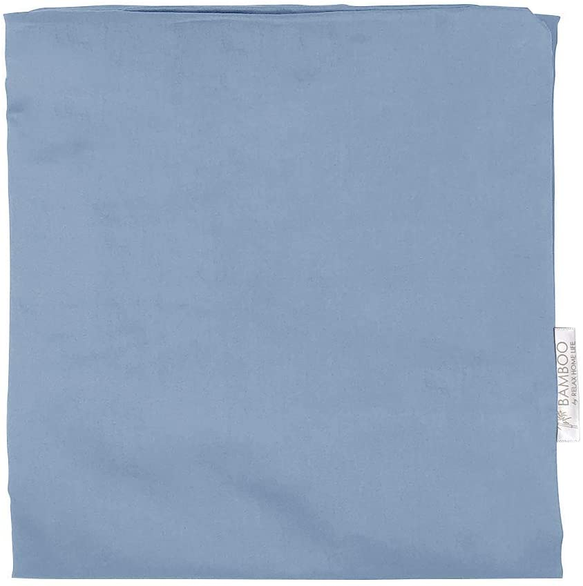 """Relax Home Life Wedge Pillowcase Designed to Fit Our 7.5"""" Bed Wedge 25"""" W x 26"""" L x 7.5"""" H, Hypoallergenic 100% Egyptian Cotton Replacement Cover, Fits Most Wedges Up to 27"""" W x 27"""" L x 8H (Blue)"""