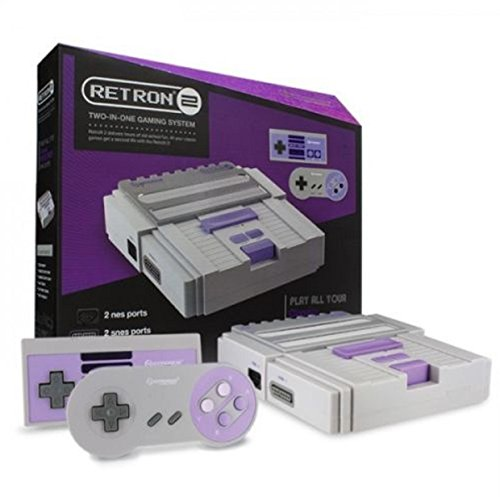 [2 In 1 Super Nintendo Games SNES & NES Retro Video Game Twin Console - Grey] (Throwback Halloween Costumes)