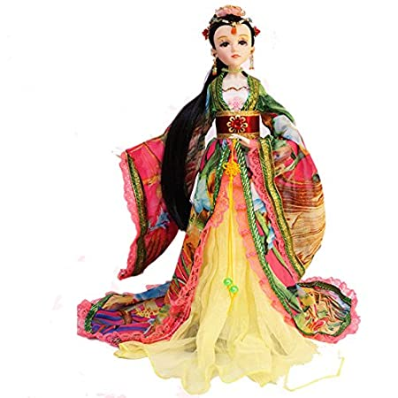 30 m/12 cm. Hecho a mano chino antiguo belleza niña Vintage ...