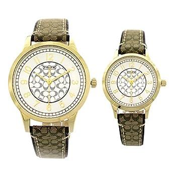 f284f580e446 Amazon | コーチ 14000043 ペアウオッチ ニュー クラシック シグネチャー【並行輸入品】 | 並行輸入品・逆輸入品・中古品 | 腕時計  通販