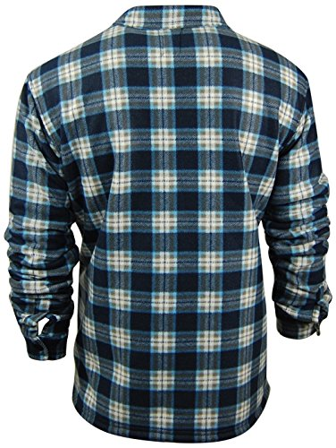 - Oakwood Mountain Men's Sherpa Lined Flannel Shirt Jacket (4X-Large, Blue/White)