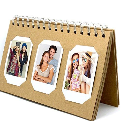 Mat Board Center, Mini Photo Album Book Style 60 Pocket for Instax Mini 8 70 7s 25 50s 90 Film/Pringo 231 Film/Fujifilm Instax SP 1 Film/Polaroid PIC-300P Film/Polaroid Z2300 Film, Brown Color