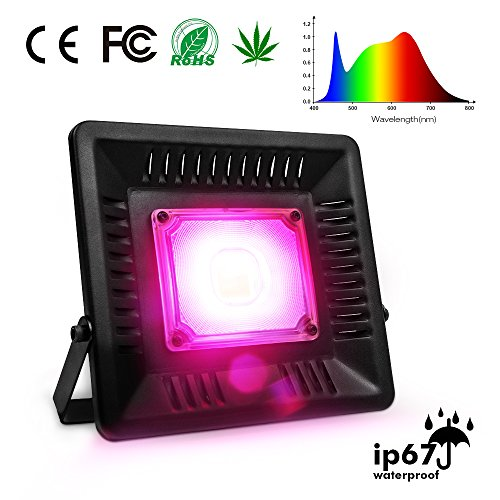 LED Grow Light Full Spectrum, 150W Relassy Waterproof COB LED Grow Light with Natural Heat Dissipation and Without Noise Perfect for Outdoor/Indoor Plants All Growing by Relassy