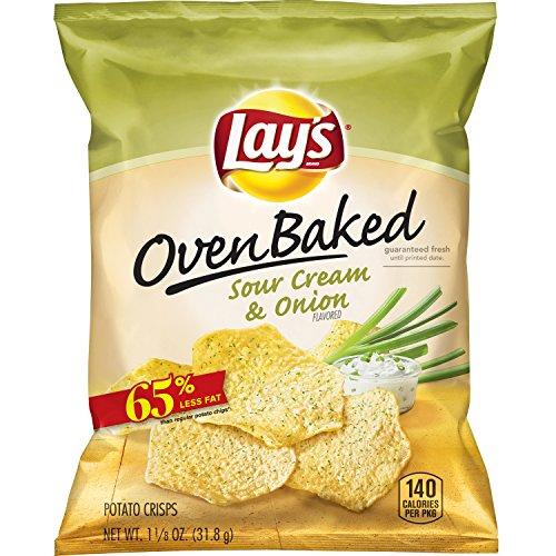 Lay's Oven Baked Sour Cream & Onion Flavored Potato Crisp...
