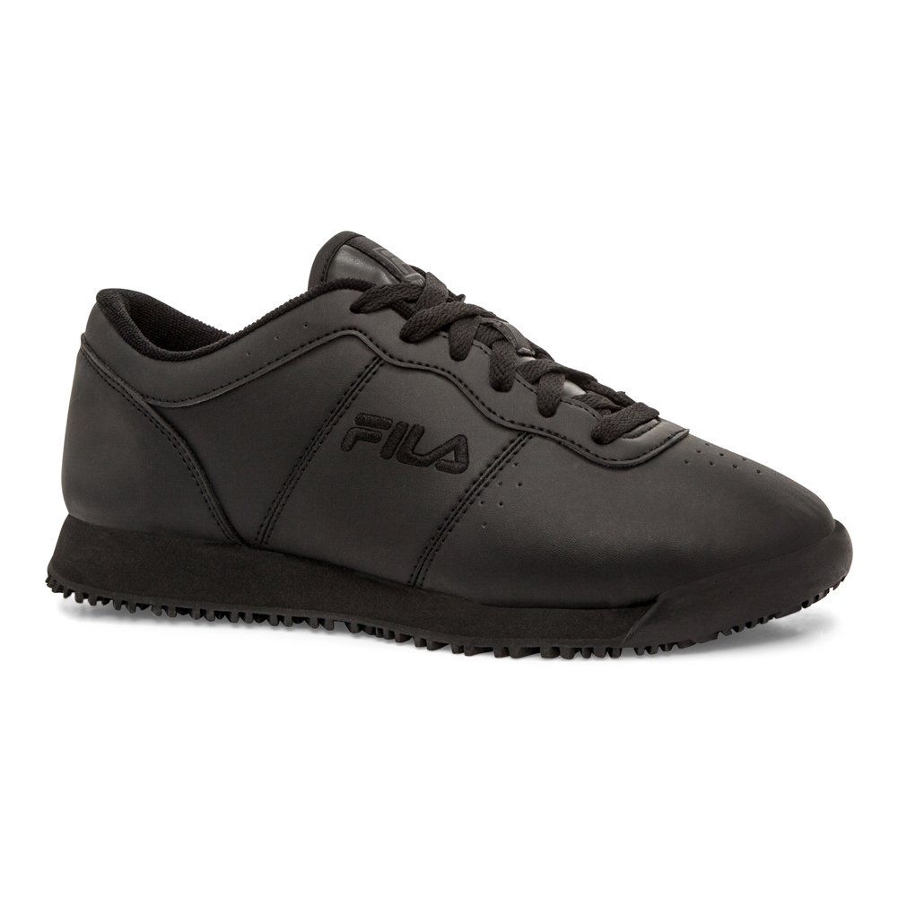 Fila Women's Memory Viable Slip Resistant Work Shoe Food Service, Black, 7.5 B US