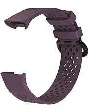 Prevently - Correa de Reloj para Fitbit Charge 3 (Silicona Transpirable)