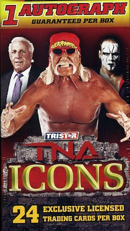 2010 Tristar TNA Icons Factory Sealed Blaster Box+ Autograph ! (Icons Tri)