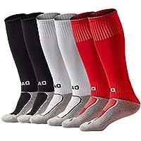 Kids Soccer Socks Boys Girls Knee High Long Sport...