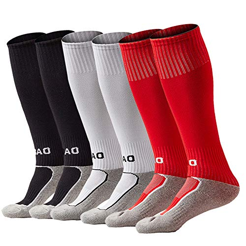 xikun Kids Soccer Socks Boys Girls Knee High Long Sport Compression Football Socks