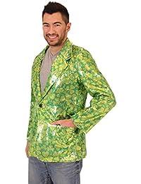 Sequin St. Patrick's Day Irish Four Leaf Clover Suit Jacket