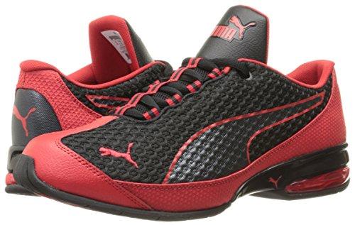 PUMA-Mens-Reverb-Mesh-Running-Shoe-BlackHigh-Risk-Red-85-M-US