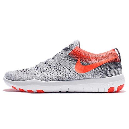 Nike W Free Tr Focus Flyknit, Zapatillas de Senderismo Unisex Adulto pure platinum total crimson 004
