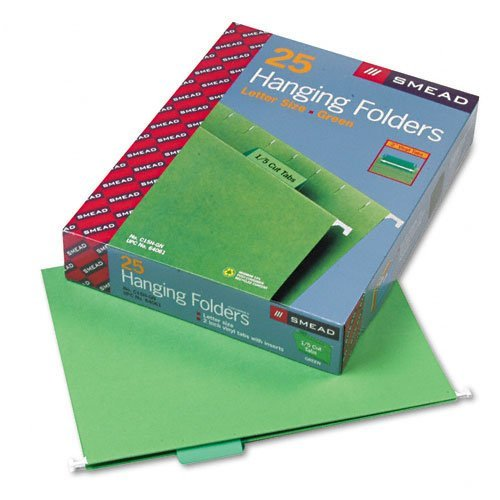 SMD64061 - Smead Hanging File Folders Bright Green 2-Pack