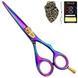 "Washi Beauty - Lavender Rainbow 5.75"" Professional Hair Cutting Shear / Scissor"