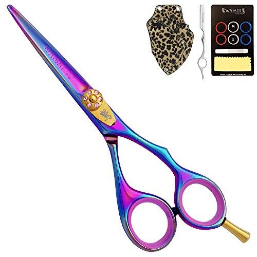 "Washi Beauty - Lavender Rainbow 5.75"" Professional Hair Cutting Shear / Scissor by Washi Beauty Shears (Image #1)"
