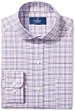 Buttoned Down Men's Classic Fit Cutaway-Collar Non-Iron Dress Shirt, Berry/Blue/Navy Check, 19'' Neck 35'' Sleeve (Big and Tall)