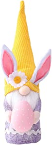 1pcs Easter Gnome Plush Decorations , Easter Gnome Bunny with Easter Egg,Bunny Gnomes Plush Decor, Handmade Easter Gifts, Indoor Spring Decor