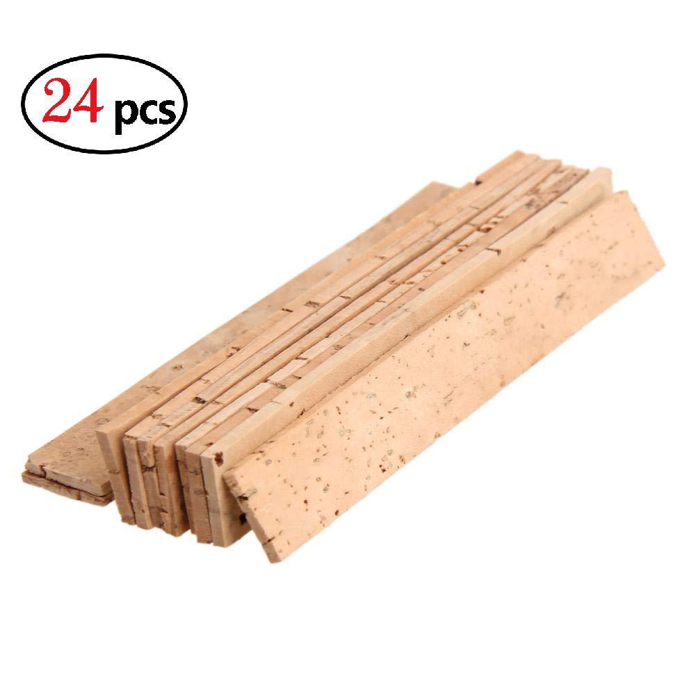 elegantstunning 10 Pcs/Set Bb Clarinet Joint Cork 81 x 11 x 2 mm (24pcs)