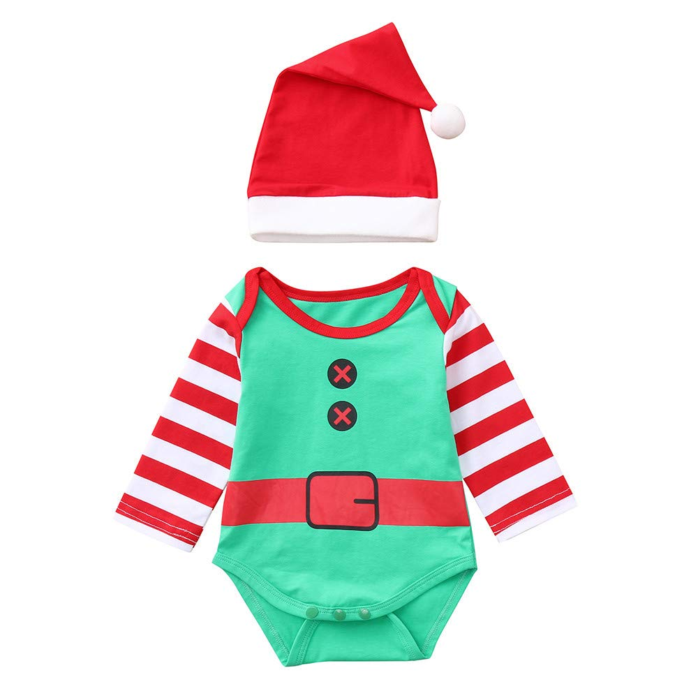 Jimmackey Neonato Unisex Natale Pagliaccetto, Bebè Striscia Fumetto Cosplay Stampa Tutine Body